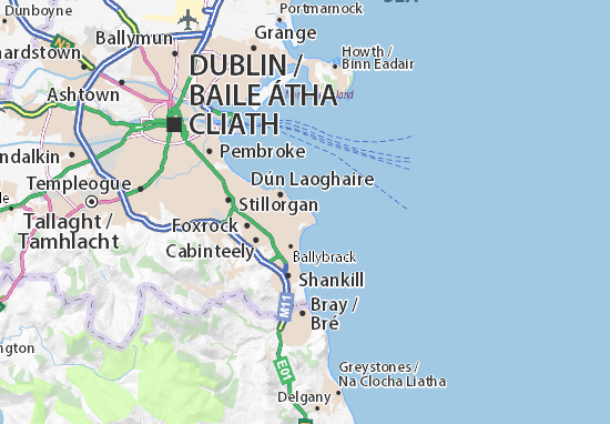 Detailed Map Of Ireland.Detailed Map Of Dalkey Dalkey Map Viamichelin