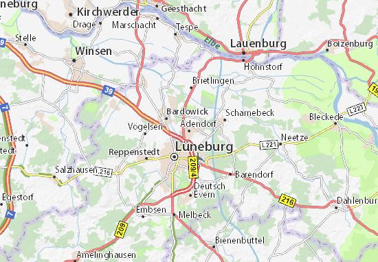 Carte-Plan Adendorf