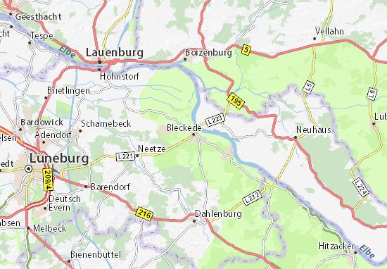 Bleckede Map