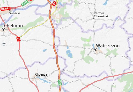 Mapa Płużnica