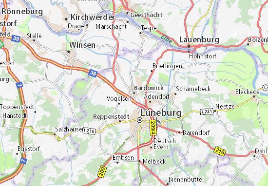 Kaart Plattegrond Bardowick