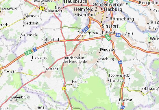 Mapa Plano Buchholz in der Nordheide