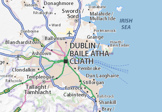 Map Of Ireland Tourist Attractions.Clontarf Map Detailed Maps For The City Of Clontarf Viamichelin