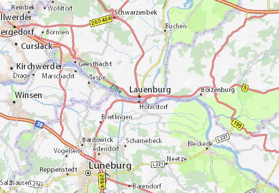 Karte Stadtplan Lauenburg