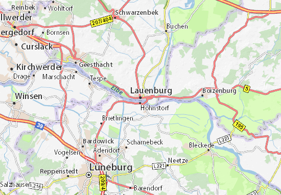 Mapa Plano Lauenburg