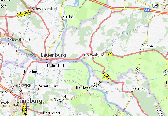 Kaart Plattegrond Boizenburg