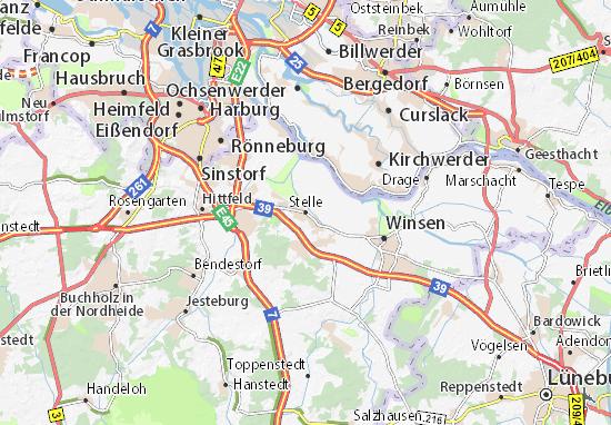 Karte Stadtplan Stelle