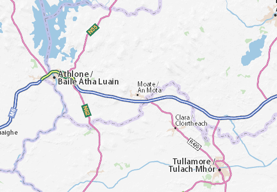 Map Of Ireland Showing Athlone.Detailed Map Of Moate Moate Map Viamichelin