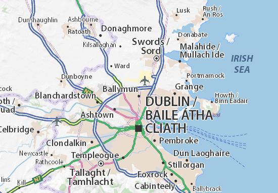Kaart Plattegrond Ballymun