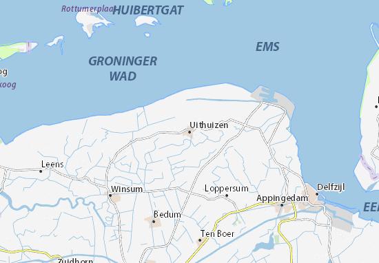 Uithuizen Map