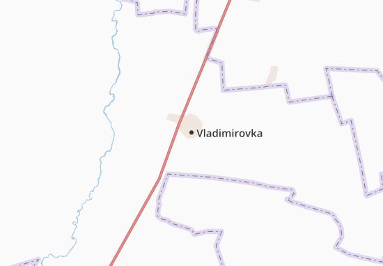 Kaart Plattegrond Vladimirovka