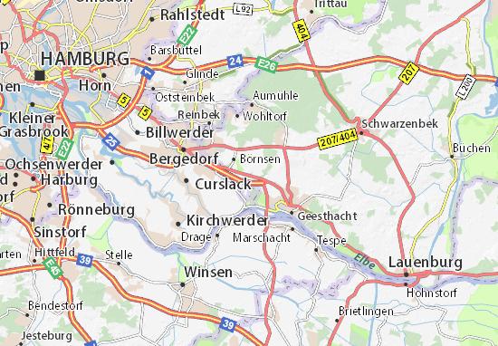 Karte Stadtplan Escheburg