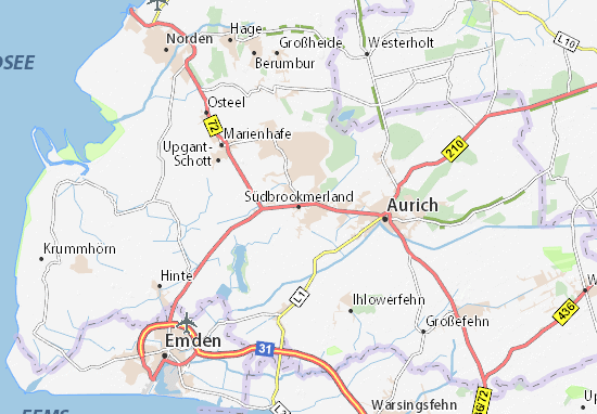 Carte-Plan Südbrookmerland