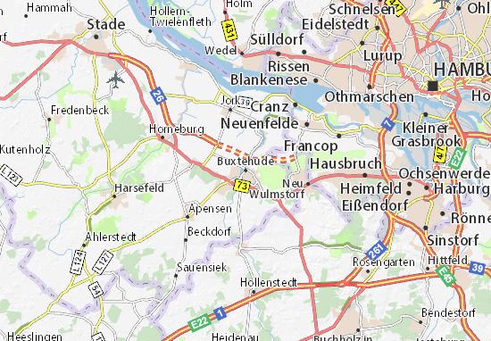 Kaart Plattegrond Buxtehude