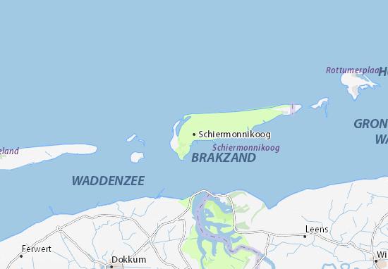 kaart schiermonnikoog Kaart van Schiermonnikoog  plattegrond van Schiermonnikoog
