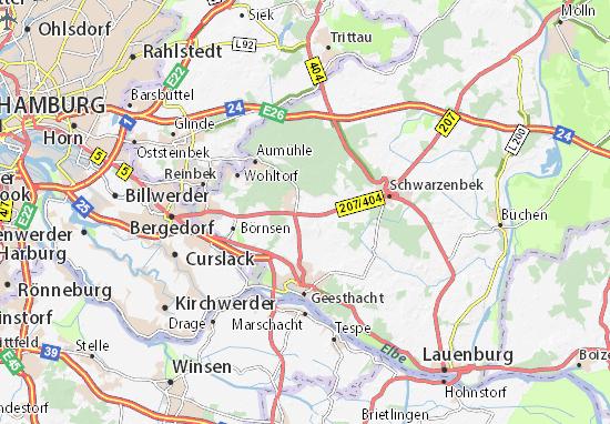 Karte Stadtplan Dassendorf