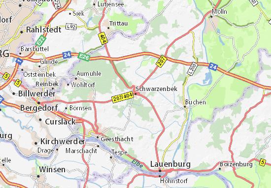 Karte Stadtplan Schwarzenbek