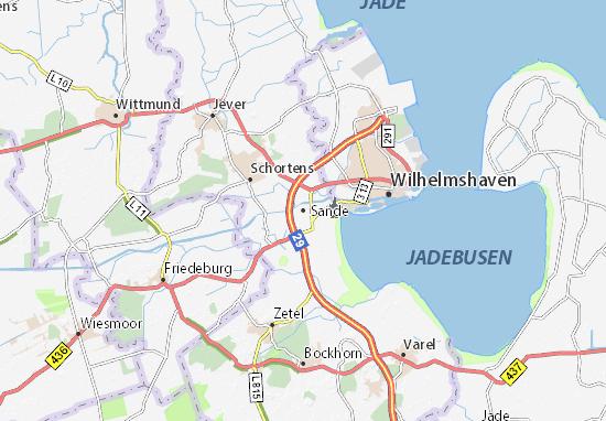 Karte Stadtplan Sande