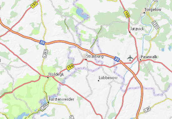 Mapa Plano Strasburg