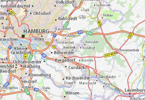 Karte Stadtplan Reinbek