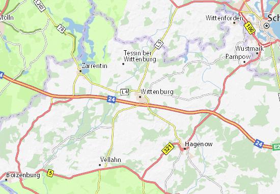 Mapa Plano Wittenburg