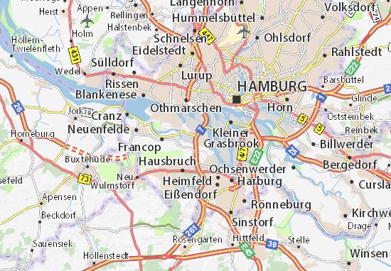 Carte-Plan Altenwerder
