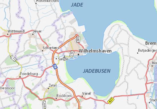 Carte-Plan Wilhelmshaven