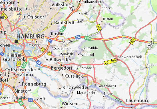 Karte Stadtplan Wohltorf
