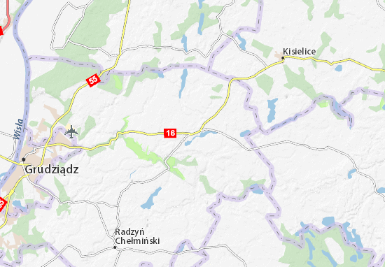 Mapa Łasin