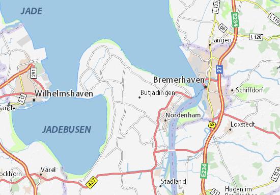 Mapas-Planos Butjadingen