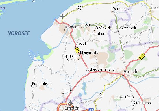 Karte Stadtplan Marienhafe