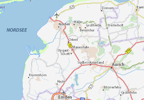 Marienhafe Map