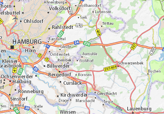 Mapa Plano Aumühle
