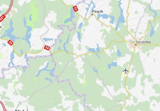 Mapa Jedwabno
