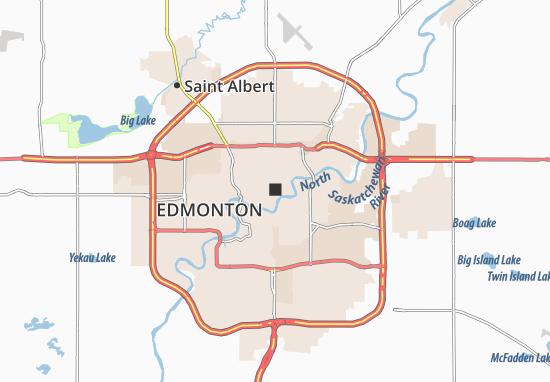 Carte Canada Edmonton.Carte Detaillee Edmonton Plan Edmonton Viamichelin