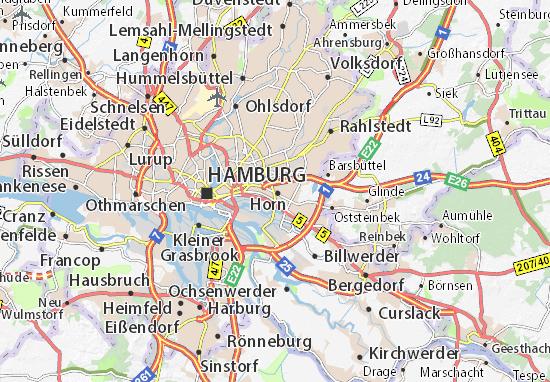 Hamm Karte.Karte Stadtplan Hamm Viamichelin