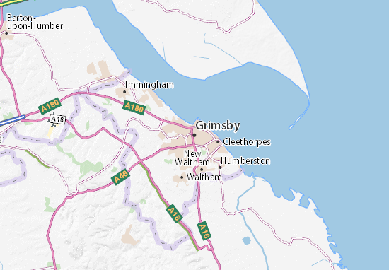 Carte-Plan Grimsby