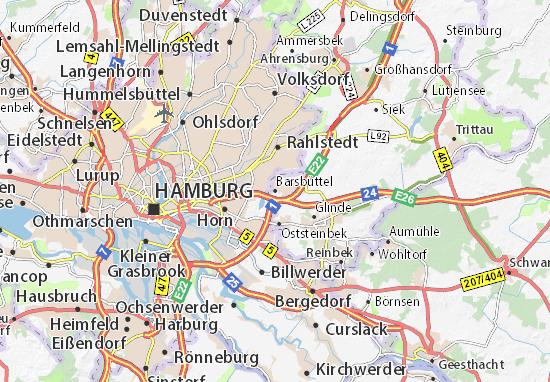 Kaart Plattegrond Barsbüttel