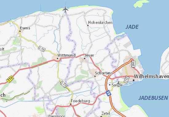 Karte Stadtplan Jever