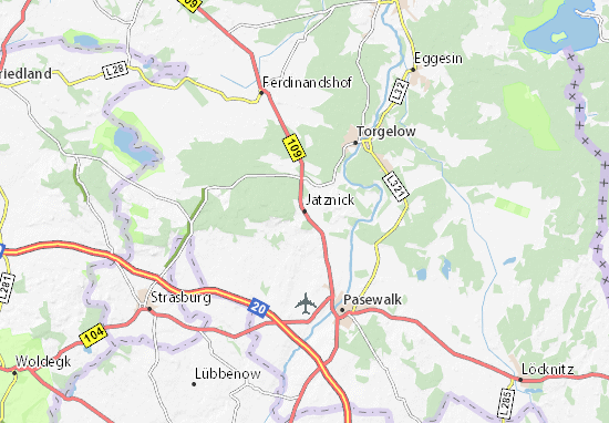 Karte Stadtplan Jatznick