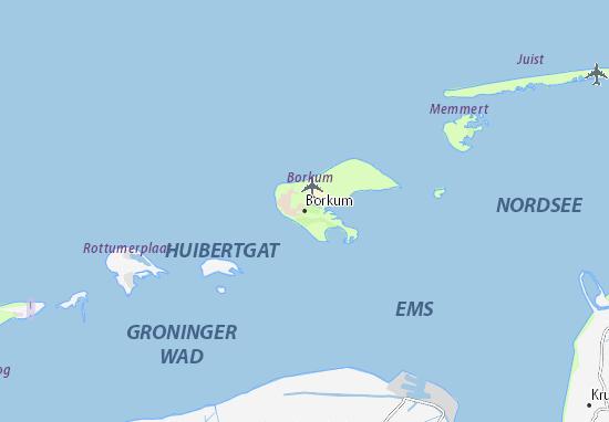 Kaart Plattegrond Borkum