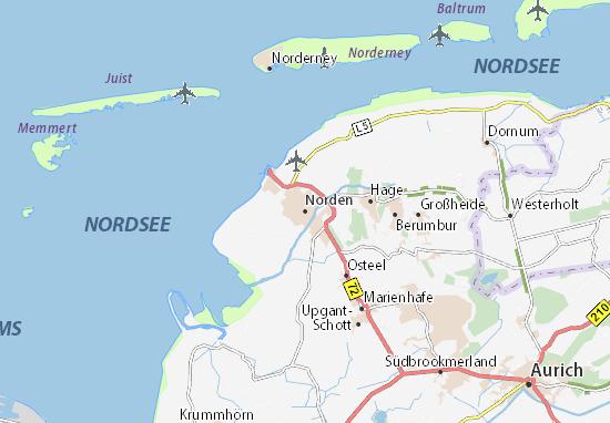 Kaart Plattegrond Norden