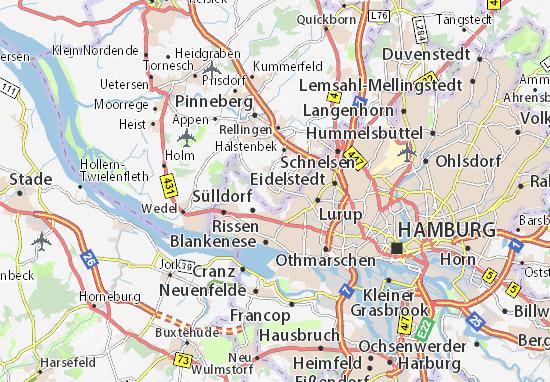 Karte Stadtplan Schenefeld