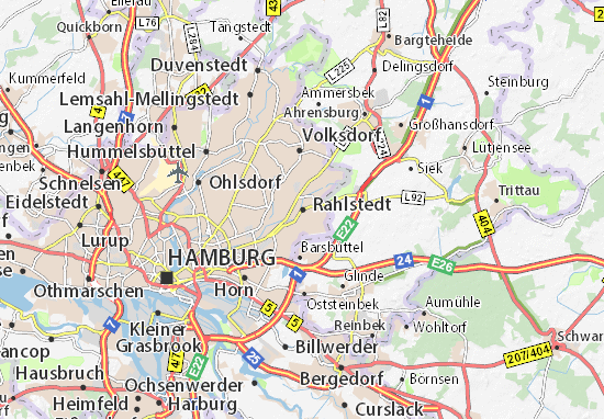 Karte Stadtplan Rahlstedt Viamichelin