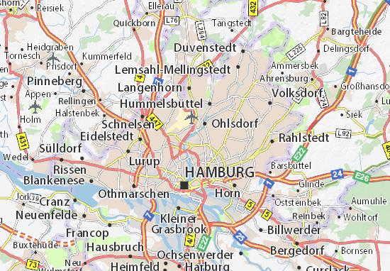 Carte-Plan Alsterdorf