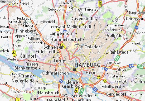 Karte Stadtplan Gross Borstel Viamichelin