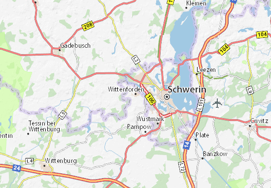 Wittenförden Map