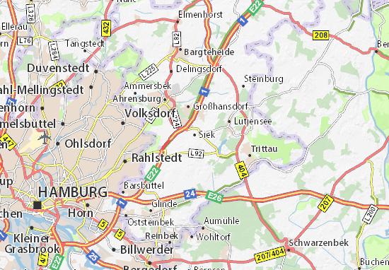 Karte Stadtplan Siek