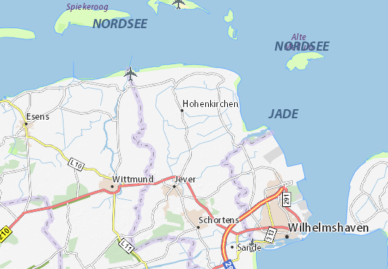 Wangerland Map