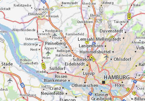 Kaart Plattegrond Rellingen